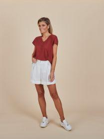 Bordeaux V-hals T-shirt Seventy