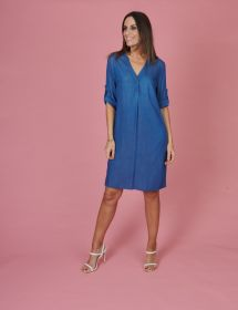Blauw jeanskleed Amania Mo