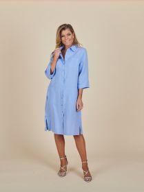 Lichtblauw kleed met borstzakken Blue Bay