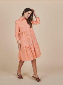 Oranje hemdkleed met banden Due Amanti