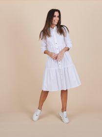 Wit hemdkleed met banden Due Amanti