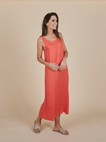 Oranje lang kleed Due Amanti