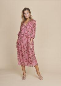Roze gebloemd lang kleed Luisa Cerano
