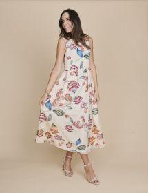 Gebloemd lang kleed Luisa Cerano