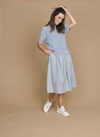 Grijsblauw kleed met pull bovenaan Riani