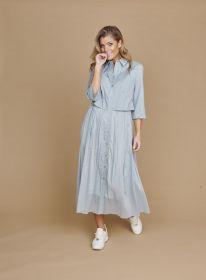 Grijsblauw lang hemdkleed Riani