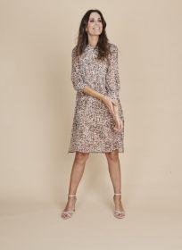 Beige roze kleed met print Riani