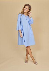 Lichtblauw A-lijn kleed Riani