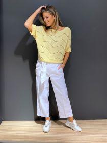 Witte broek model Claire Cambio