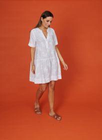 Wit kleed met broderie Rosso 35