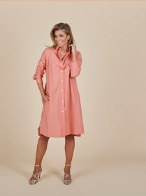 Coraal hemdkleed met borstzak Rosso 35