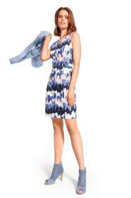 Blauw kleed met print Caroline Biss