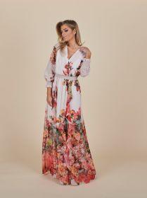 Gebloemd lang kleed Linea Raffaelli