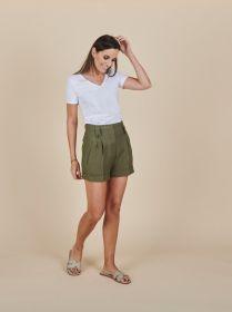 Witte V-hals T-shirt Repeat
