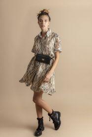 Beige kleed met dierenprint Max & Moi