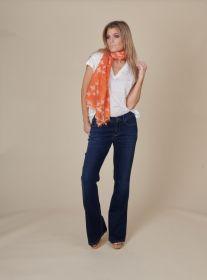 Oranje sjaal met schildpadprint Hemisphere