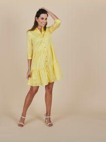 Geel hemdkleed met banden Senso