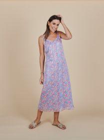 Lichtblauw gebloemd kleed Senso