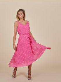 Roze plissékleed met bollen Senso