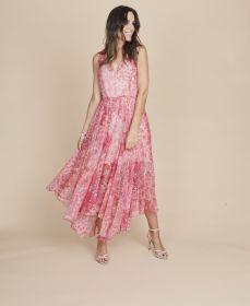 Roze lang kleed met print Twinset