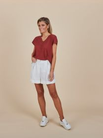 Witte short Twinset