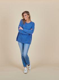 Blauwe oversized pull Des Petits Hauts