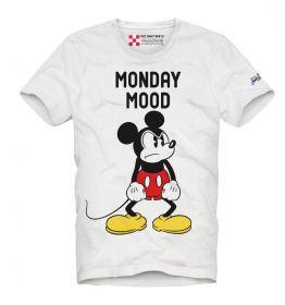 Witte T-shirt met Mickey mouse monday mood MC2 Saint Barth
