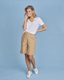 Witte V-hals T-shirt Seventy