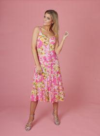 Roze gebloemd hemdkleed (bain soleil) Senso