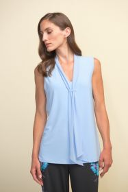 Lichtblauwe V-hals bloes Joseph Ribkoff