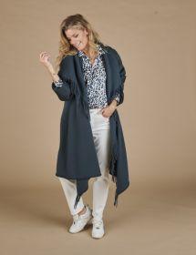 Blauwe jas/ poncho Luisa Cerano