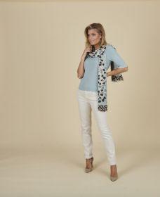 sjaal met grijsblauwe print Riani