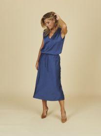 Blauwe rok op elastiek Seventy