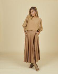 Camel rok met brede plooien Seventy