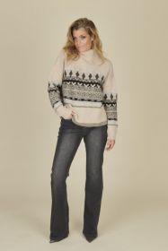 Grijze bootcut jeans Caroline Biss