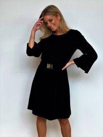 Zwart kleed met riem Riani