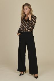 Zwarte broek model Palina Raffaello Rossi