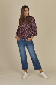 Blauwe culotte jeans model Kira Raffaello Rossi