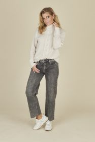Grijze culotte jeans model Kira Raffaello Rossi
