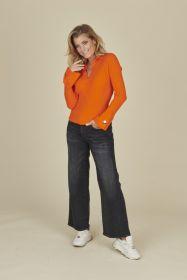 Grijze jeans culotte model Celia Cambio