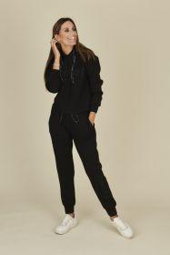 Zwarte joggingbroek met opschrift Twinset