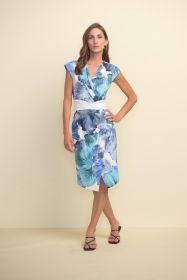 Lichtblauw kleed met print Joseph Ribkoff