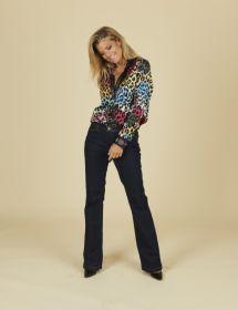 Multicolor bloes met leopardprint Mucho Gusto